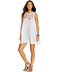 Raviya Sleeveless Crochet Cover Up Women's Swimsuit White