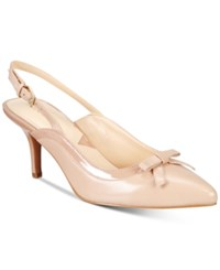 Adrienne Vittadini Simka Pointed Toe Slingback Pumps Women's Shoes Blush