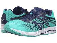 Mizuno Wave Sayonara 4 Blue Depths Electric Green Silver Women's Running Shoes