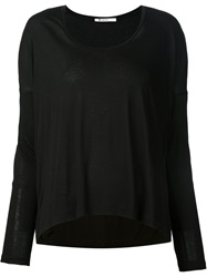 T By Alexander Wang Jersey Longsleeved Top Black
