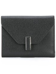 Valextra Square Envelope Wallet Black