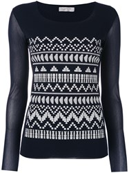 D.Exterior Embroidered Top Women Polyamide M Blue