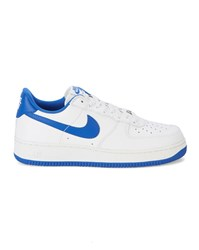 Nike White And Blue Air Force 1 Low Retro Sneakers