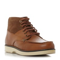 Original Penguin Jailer Leather Suede Combo Boots Tan