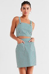 Urban Outfitters Uo High Rise Striped Mini Skirt Green Multi