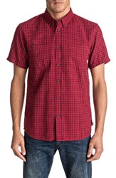 Quiksilver Men's Forte Night Check Shirt Wine