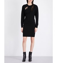 Versus Safety Pin Knitted Dress Black