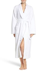 Nordstrom Women's Lingerie Terry Velour Robe White