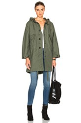Engineered Garments Double Cloth Highland Parka In Green