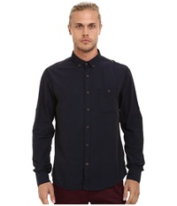 Mavi Jeans Folded Sleeve Shirt Total Eclipse Men's Clothing Navy