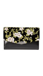 Rochas Embroidered Clutch Black