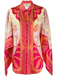 Emilio Pucci Printed Draped Sleeves Blouse 60