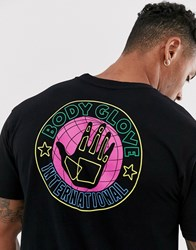 Body Glove Neon International T Shirt With Back Print In Black