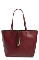 Street Level Junior Women's Reversible Faux Leather Tote Burgundy
