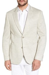 Flynt Big And Tall Classic Fit Heathered Jersey Sport Coat Light Grey