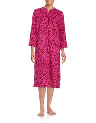 Miss Elaine Damask Fleece Robe Red