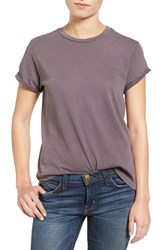 Current Elliott Women's The Rolled Sleeve Glitter Tee Sparrow Rose Gold Glitter