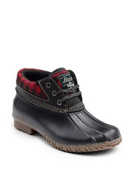 G.H. Bass Dorothy Waterproof Rain Boots Red Black Plaid