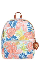 Tommy Bahama Maui Backpack Red Artsy Leaf