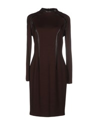 Gai Mattiolo Dresses Knee Length Dresses Women Dark Brown