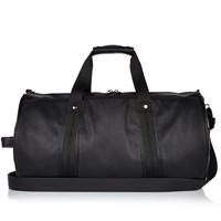 River Island Mens Black Perforated Holdall Bag