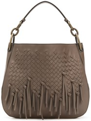 Bottega Veneta Loop Hobo Bag In Intrecciato Brio Brown