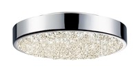 Sonneman Dazzle Led Round Surface Mount Small 8 In Dia Silver