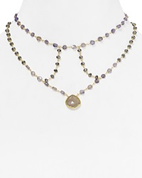 Ela Rae Cage Moonstone Statement Necklace 14 Gray Gold