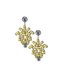 Pearly And Crystal Drop Earrings St. John Collection