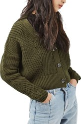 Topshop Women's Crop Fisherman Cardigan