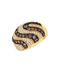 Le Vian 14 Kt. Yellow Gold Chocolate And Vanilla Diamond Ring