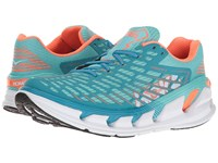 Hoka One One Vanquish 3 Blue Radiance Neon Coral Women's Running Shoes