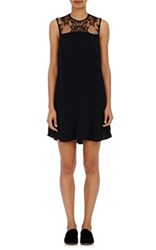 A.L.C. Women's Lace Yoke And Crepe Shift Dress Black