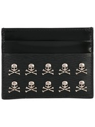 Philipp Plein Card Holder With Skull Appliques Men Calf Leather One Size Black