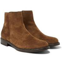 Brunello Cucinelli Suede Chelsea Boots Light Brown