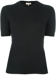 Emilio Pucci Short Sleeve Knitted Top Black