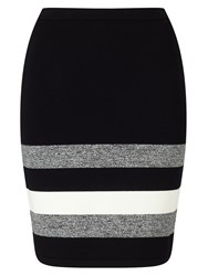 Phase Eight Aida Stripe Hem Skirt Black