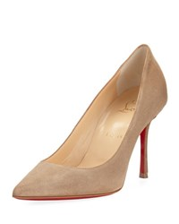 Christian Louboutin Decoltish Suede 85Mm Red Sole Pump Rose
