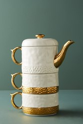 Anthropologie Duet Tea For Two Set Gold