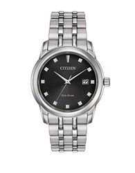 Citizen Eco Drive Diamond And Stainless Steel Bracelet Watch Silver