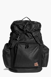 Boohoo Pocket Double Strap Rucksack Black