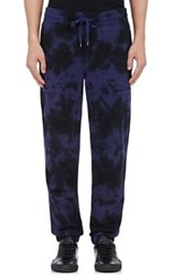 Vince. Men's Tie Dyed Sweatpants Blue