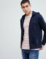 French Connection Zip Hoodie Navy