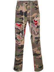 Mostly Heard Rarely Seen Two Tone Camouflage Trousers Green