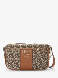 Dkny Noho Logo Demi Cross Body Bag Chino Caramel
