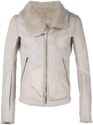 Rick Owens Panelled Jacket Nude And Neutrals