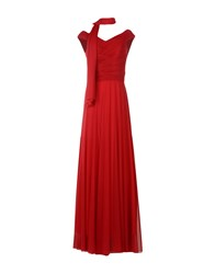 Musani Couture Long Dresses Brick Red