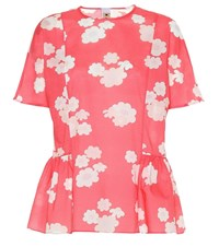 Marni Floral Cotton Top Pink