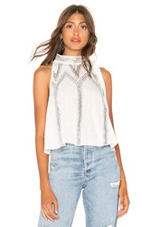 Free People Glitter City Top White