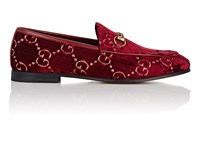 Gucci New Jordaan Velvet Loafers Red